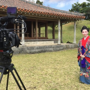 NHK「イッピン」撮影 識名園にて