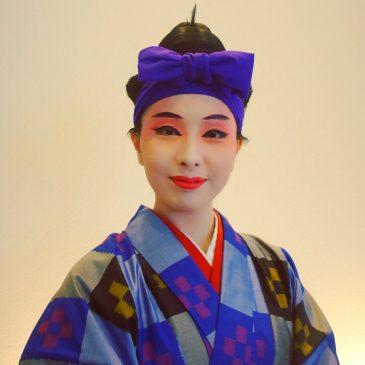 生年祝いにて琉球舞踊の演舞